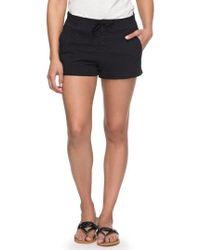 Roxy - Sunset Pie Cotton Shorts - Lyst