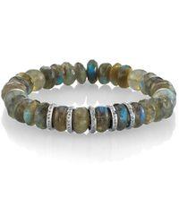 Sheryl Lowe - Labradorite Rondelle Bracelet - Lyst