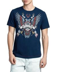 True Religion - Crafted Eagle T-shirt - Lyst