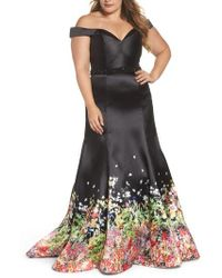 Mac Duggal - Beaded Waist Off The Shoulder Gown - Lyst