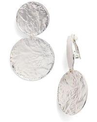 Karine Sultan - Aimee Large Disc Clip Earrings - Lyst