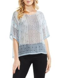 Vince Camuto | Delicate Diamond Geo Sheer Top | Lyst