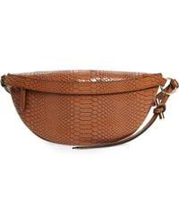 Stella McCartney - Snake Effect Faux Leather Belt Bag - Lyst