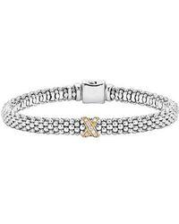 Lagos - Caviar 'signature Caviar' Diamond Rope Bracelet - Lyst