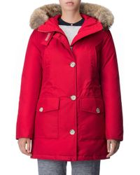 Woolrich - 'arctic' Water Resistant 550-fill Power Down Parka With Genuine Coyote Fur Trim - Lyst
