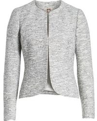 Anne Klein | Etched Tweed Jacket | Lyst
