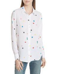 Equipment - Essential Star Print Silk Shirt - Lyst