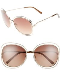 Chloé - Chloé Carlina 60mm Gradient Les Sunglasses - Lyst