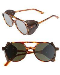 Lgr - Reunion Ii 49mm Sunglasses - Havana Fiammato/ Brown - Lyst