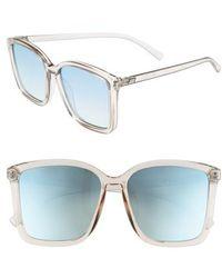 Le Specs - It Ain't Baroque 55mm Sunglasses - Shadow - Lyst