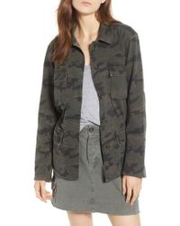 James Perse - Camo Cotton Military Jacket - Lyst