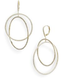 Nordstrom - Pave Intertwined Circle Hoop Earrings - Lyst