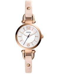 Fossil - 'small Georgia' Leather Strap Watch - Lyst