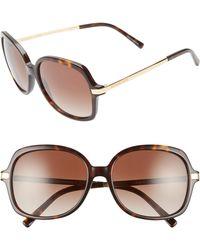 4a03d2ac30 Collection 59mm Aviator Sunglasses - Purple.  99. Nordstrom · Michael Kors  - 57mm Gradient Square Sunglasses - - Lyst