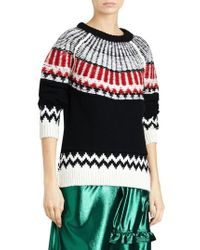 Burberry - Fair Isle Wool Cashmere Sweater - Lyst