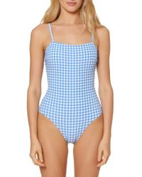 Red Carter - Gingham One-piece Swimsuit - Lyst