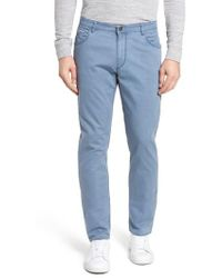 Brax - Chuck Flat Front Stretch Cotton Pants - Lyst