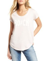 Zadig & Voltaire - Rock & Roll Short Sleeve Sweatshirt - Lyst