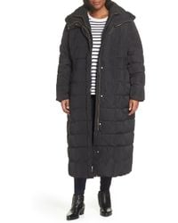 Cole Haan - Quilted Coat With Inner Bib - Lyst