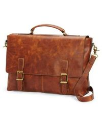 Frye - 'logan' Leather Briefcase - - Lyst