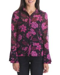 Kut From The Kloth - Odelline Bell Sleeve Top - Lyst