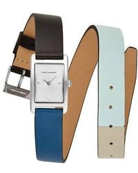 Rebecca Minkoff - Moment Wrap Leather Strap Watch - Lyst