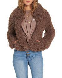 Billabong - Fur Keeps Faux Fur Crop Jacket - Lyst