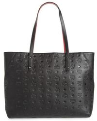 MCM - Klara Monogrammed Leather Shopper - Lyst
