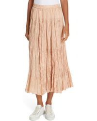 Mes Demoiselles - Shamadan Crinkle Silk Skirt - Lyst