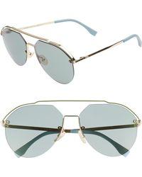 4c94a6637c Lyst - Fendi Aviator Sunglasses in Blue for Men