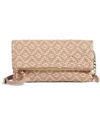 Sole Society - Lisbeth Weave Foldover Clutch - Lyst