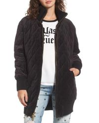 Juicy Couture - Velour Quilted Puffer Coat - Lyst