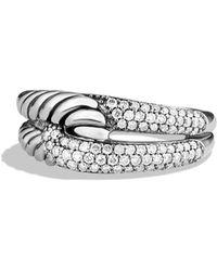 David Yurman - 'labyrinth' Single Loop Ring With Diamonds - Lyst