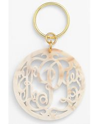 Moon & Lola - Personalized Monogram Key Chain - Lyst