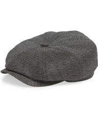 Lyst - Ted Baker Ted Baker Herringbone Flat Cap in Gray for Men fec1ad34fbe2