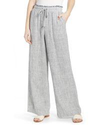 Splendid - Railroad Stripe Wide Leg Pants - Lyst