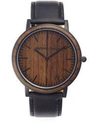 Original Grain - Minimalist Leather Strap Watch - Lyst