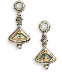 Konstantino - Etched Sterling Silver & Gold Drop Earrings - Lyst