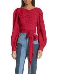 Rachel Comey - Bounds Tie Waist Silk Blend Top - Lyst