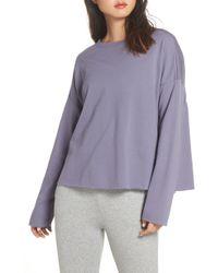 Zella - Gather Back Sweatshirt - Lyst