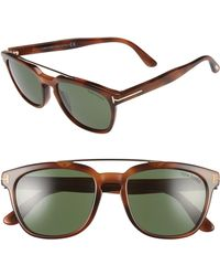 4e425cafcd Tom Ford - Holt 54mm Sunglasses - Shiny Blonde Havana  Green - Lyst
