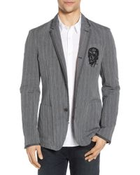 d30d29e4bb36c Lyst - John Varvatos Tonal Camo Sport Coat in Black for Men