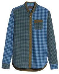 Scotch & Soda - Regular Fit Pattern Blocked Sport Shirt - Lyst