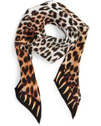 Rockins - Leopard Teeth Skinny Silk Scarf - Lyst