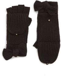 Kate Spade - Bow Convertible Mittens - Lyst
