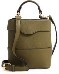 Leith - Bicolor Faux Leather Cylinder Bag - Lyst