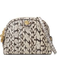 Gucci - Small Ophidia Genuine Snakeskin Dome Satchel - - Lyst