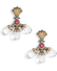 Konstantino - Pythia Triple Crystal Drop Earrings - Lyst