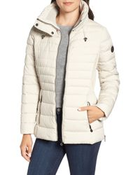 Bernardo - Micro Touch Water Resistant Quilted Jacket - Lyst