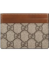 Gucci - Linea Gg Supreme Canvas Card Case - - Lyst